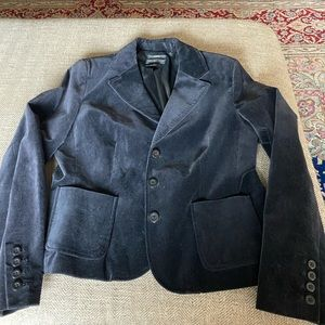 Style and Co velour black blazer